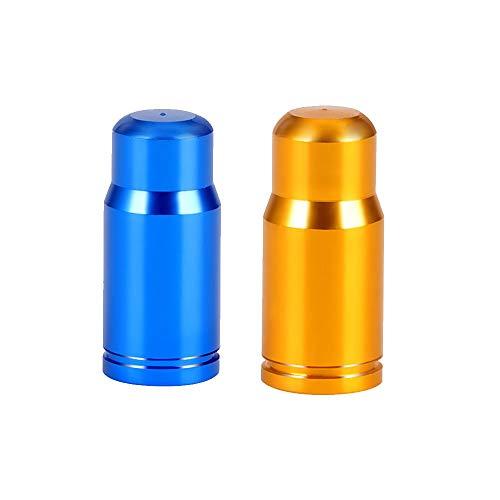 20 paquetes de 20 fundas para válvula de bicicleta, color azul y dorado, para bomba de neumáticos, accesorios para bicicleta de montaña