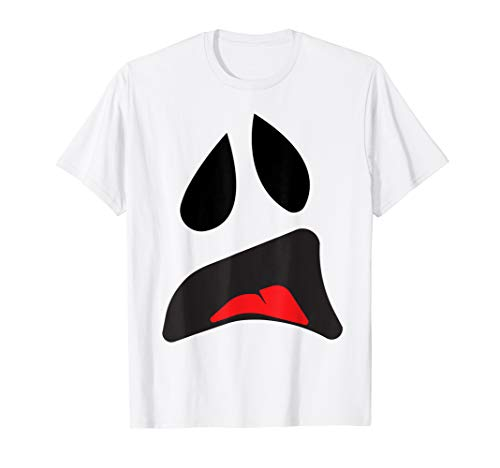 Big Ghost Face - Einfache Paare Halloween-Kostüm Idee T-Shirt