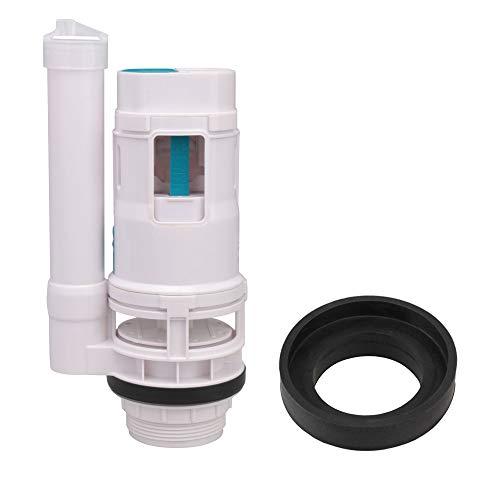RDEXP White 7.08inch Heigh Toilet Bottom Inlet Fill Valve Split Push Button Dual Flush Cistern Syphon