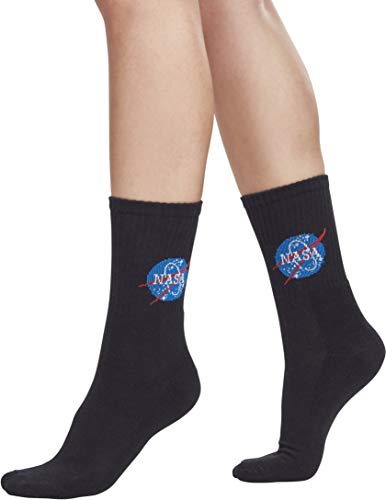 Mister Tee Herren NASA Socks, Black, 39-42