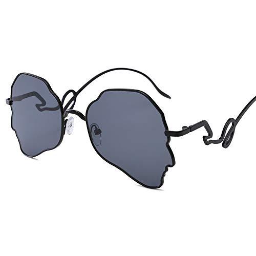 MNGF&GC Gafas de sol, nuevas personas europeas y americanas, gafas de sol, rebajas irregulares, gafas de sol punk.