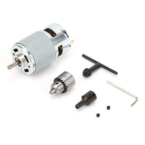 Rodamiento de bolas de 12-30 V 775 Eje de rodamiento de bolas de motor eléctrico de torsión grande de alta potencia con ventilador de refrigeración