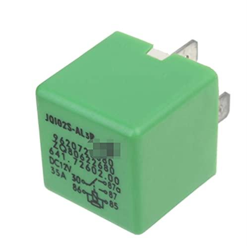 DHTENG 12V 35A 5 Pines Radiador de refrigeración Ventilador de relé Verde para Peugeot 206 207 306 307 406 407 807 6547TX