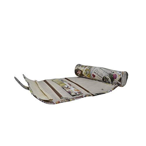 Mon Amour Joyero de viaje, hecho a mano con inserciones de cuero genuino Joyero enrollado -