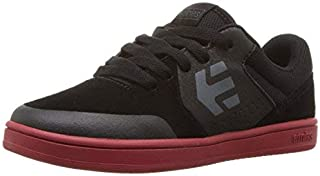 Etnies Unisex Marana Skate Shoe Black/red 6C Medium US Big Kid [並行輸入品]