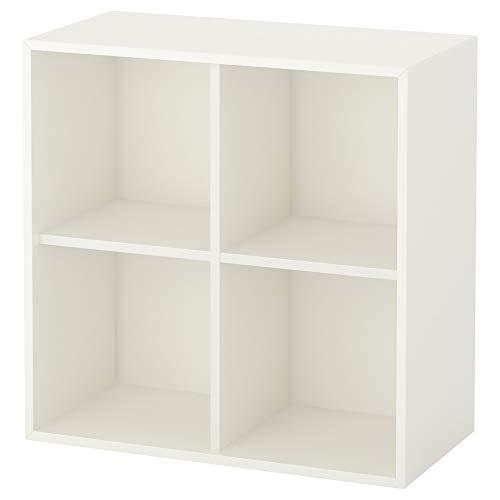 EKET estantería de pared w 4 comp 70x35x70 cm blanco