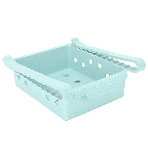 Contenedores organizadores de refrigerador, caja de almacenamiento de refrigerador tipo cajón con manija frontal para congelador, cocina para gabinetes de encimeras(green)