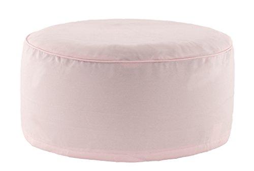 Brandsseller Outdoor Pouf Sitzhocker Sitzsack für drinnen und draußen aufblasbar - 55 x 25 cm - Farbe: Rosa