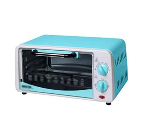 LITING Mini Elektroofen Toaster Kleiner Elektroofen Home Backen Kuchen Barbecue Süßkartoffel Pizza Miniofen Doppelschicht Küchenöfen (Farbe: Blau)