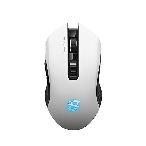 bester Test von gaming maus wireless Sharkoon SKILLER SGM3 Weiß, Optische Gaming-Maus, Dual-Modus (drahtlos oder verkabelt), RGB