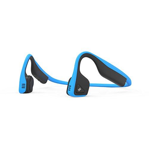 AfterShokz Titanium Open-Ear Wireless Bone Conduction Headphones with Brilliant Reflective Strips, Ocean Blue, AS600OB-BR