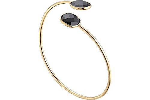 Caroline Najman - Pulsera de junco atemporal, oro de oro fino, ónix de 55 mm de diámetro