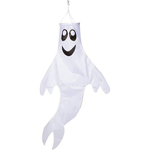 Zcutt Home Goods 121,9 cm Geister-Windsack zum Aufhängen im Freien – gesponnener Polyester-Stoff – inklusive drehbarem Clip zum Aufhängen