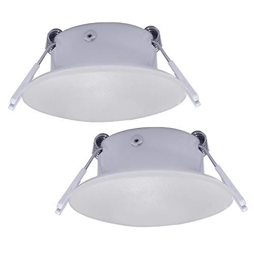 Facon 3 Inch LED RV Puck Light Full Aluminum Recessed LED Ceiling Light, 12V Interior Light for RV Motor-Homes Camper Caravan Trailer Boat (Pack of 2)