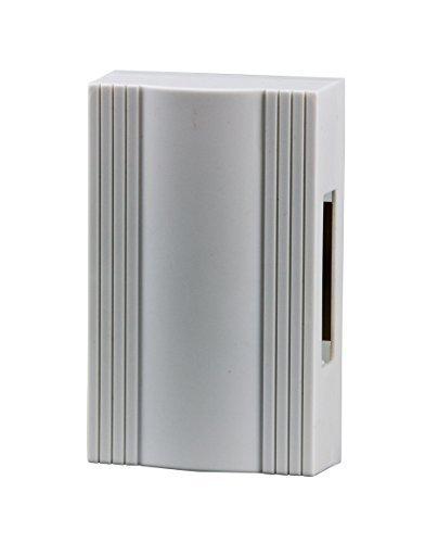 HUBER Zweiklang Gong Klingel Mechanisch für die Haustür I Mechanische Türklingel Haus Tür I Türgong Trafo oder Batteriebetrieben 80 dB(A), Doorbell 8V-12V