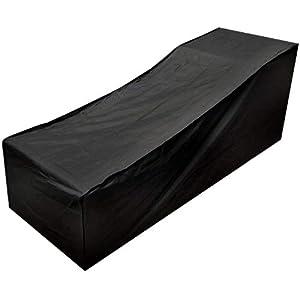 Conpush Funda para tumbona, impermeable, para exteriores, para jardín, resistente al viento y a los rayos UV, cojín de protección de muebles de ratán 420D, tela Oxford de 210 x 75 x 80 / 40 cm (versión impermeable de actualización)