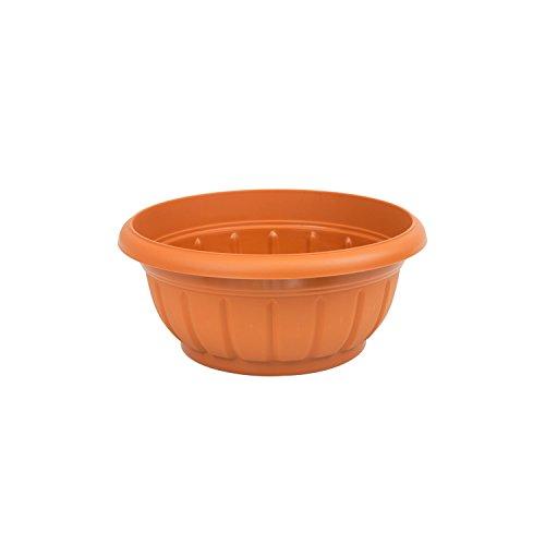 Rond pot de fleur Verona marron en plastique 20 cm de diametre
