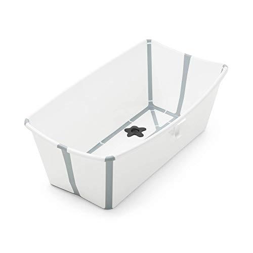 STOKKE® Flexi Bath®│Vasca pieghevole per il bagnetto dei bambini│Vaschetta portatile con base antiscivolo per bambini dai 0 mesi ai 4 anni│Colore: White