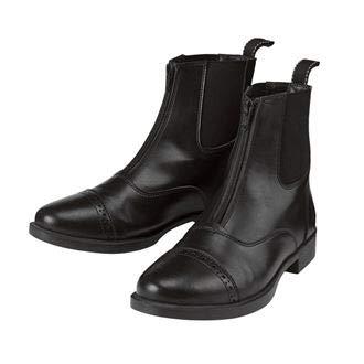 Riding Sport by Dover Saddlery Kids' Provenance Zip Paddock Boots, Size 1, Black by Dover Saddlery