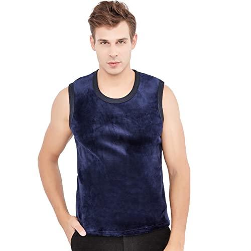 MWYS Chaleco térmico para hombre de invierno con cuello en U y cuello sin mangas para mujer, camiseta sexy (color: B, tamaño: M)