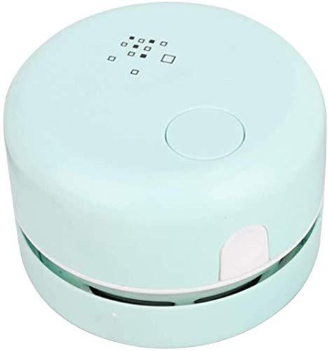 JUJ® Desktop-Staubsauger Mini-Tischstaubkehrmaschine Energiesparendes, um 360 ° drehbares Design für Tastatur/Heim/Amtsweiß-Blau