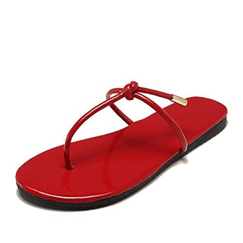 Infradito Le donne infradito-flip-flops strappy pizzo up sandali in fiocco spiaggia piatta gelatina di pioggia rivetti oro rivetto scarpe da doccia Doccia giornaliera pantofole regali, taglia 36-40, r