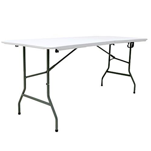 Oypla 6ft 1.8m Folding Heavy Duty Catering Trestle Party Garden Table