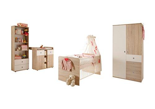 Ticaa Babyzimmer Milu 4-teilig Sonoma-Weiß