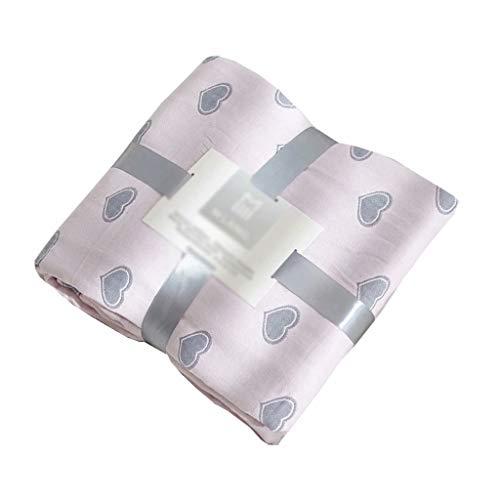ZDNB Vier Schichten Mulltücher, Baumwolldecken, Nickerchendecken für Erwachsene Atmungsaktive Decken für Sofas/Betten Leichte Decken für Kinder, pink / 200 * 230 cm (1,5 kg)