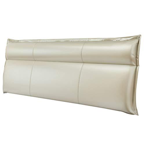 XING ZI Kissen X-L-H Sleek Minimalistisch Kein Kopfteil Rückenpolster Bett Weiches Leder Kissenbezug Sofakissen Lendenpolster (Farbe : 3, größe : 200x10x60cm)