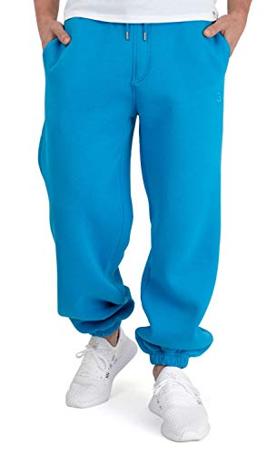 BACKSPIN Sportswear - Jogginghose Basic Farbe Process Blau, Größe L