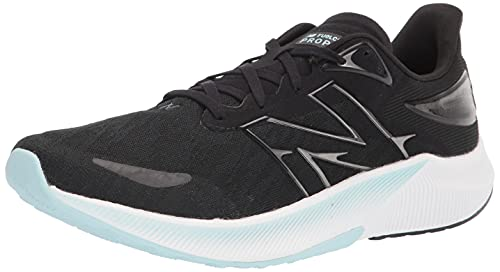 New Balance Women's FuelCell Propel V3 Speed Running Shoe, Black/Pale Blue Chill/White, 8.5