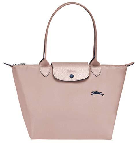Longchamp Le Pliage Club Schultertasche, groß, Weißdorn-Rosa