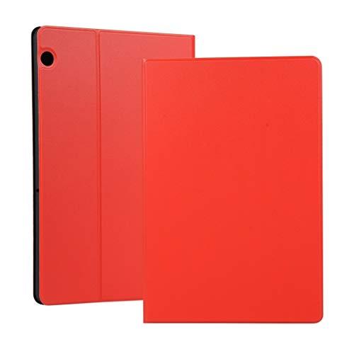 Liluyao Más Casos para Tableta Funda Protectora de TPU con Textura de Resorte Universal for Huawei MediaPad T5, con Soporte (Color : Red)