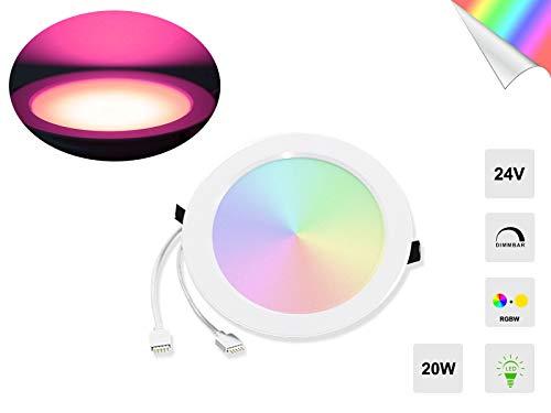 Ogeled Superhell 1-2 Meter dimmbares 24V LED Aluminium Licht Leisten mit Panel Deckenleuchte, Wandlampe, Bunte Farbe, RGBW, Stimmungslicht, Party Licht (D178 Panel (RGBW), 1 Stück)
