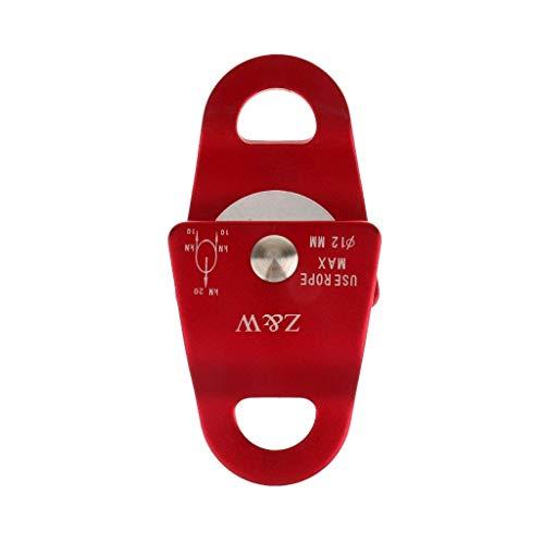 REFURBISHHOUSE Alliage d'aluminium 20KN Usage General Petite Poulie Mobile Corde Escalade 12mm