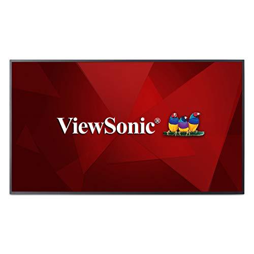 Viewsonic CDE5510 139,7 cm (55 Zoll) Digital Signage Display (4K, VA-Panel, HDMI, DVI, USB, VGA, Mediaplayer, Lautsprecher) Schwarz