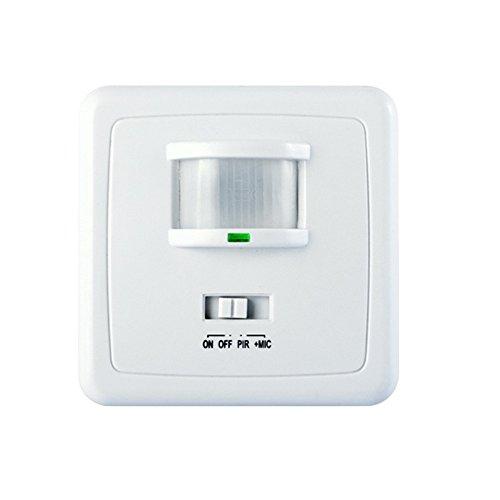 Preisvergleich Produktbild Maclean MCE18 Infrarot Bewegungs Sensor Bewegungsmelder Sensor 160° Bewegungssensor PIR Wandhalterung Klang und Bewegung aktiviert
