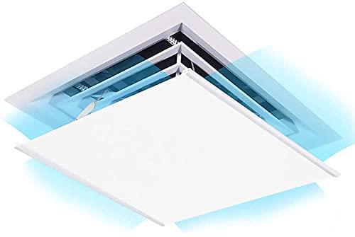 Deflettore condizionata,Deflettore dell'aria condizionata a soffitto può impedire all'aria di soffiare direttamente sulle persone e l'angolazione può essere regolata,45x45cm