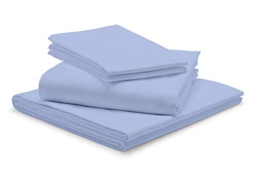 """1000-Thread-Count 100% Egyptian Cotton Light Blue RV-King Sheets Set, 4-Piece Extra Long-Staple Combed Cotton Best-Bedding Sheets, Breathable Soft & Silky Sateen Weave Fits Mattress 15"""" Deep Pocket"""