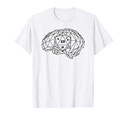 ブレイン rpg ロールプレイングゲーム ゲーマー Gamer ダイス・サイコロ D20 ボードゲーム 卓上ゲーム Tシャツ