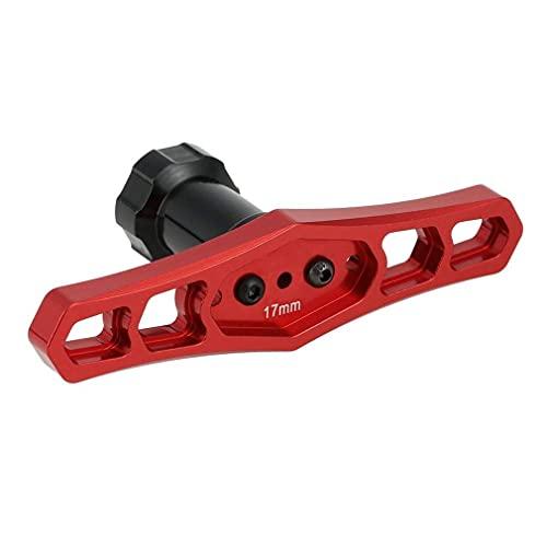 Llave hexagonal para llantas de cubo de 17 mm, acoplador de tuercas de rueda, destornillador, 1/8, herramientas de reparación de automóviles todoterreno con buggy de camión RC (tamaño: 17 mm)