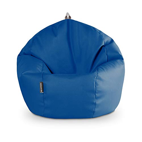 HAPPERS Puff Pelota Polipiel Interior Azul
