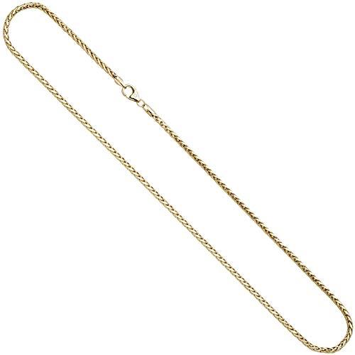 JOBO Zopfkette 585 Gelbgold 45 cm Gold Kette Halskette Karabiner
