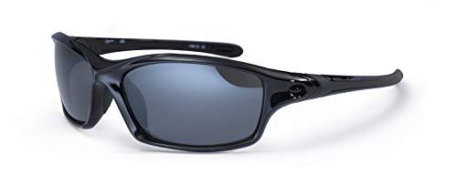 Bloc Daytona Sport-Sonnenbrille, Schwarz glänzend, 14cm