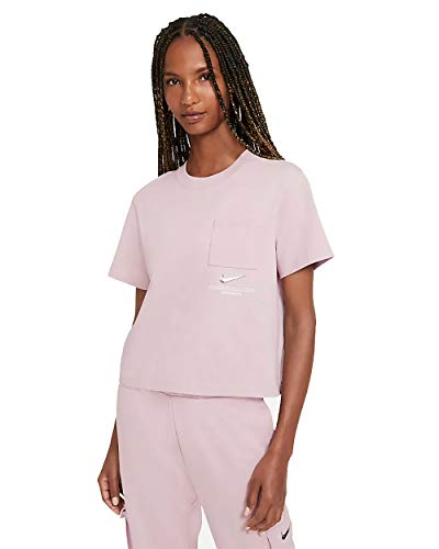 Nike W NSW SWSH SS Top T-Shirt, Champagne/(White), S Womens