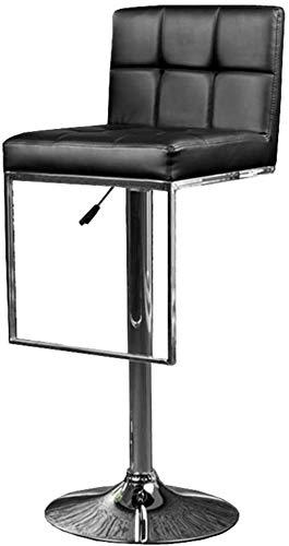 CDFC Silla de Escritorio ergonómico Metal de Cuero Metal Silla de Oficina Ajustable Silla giratoria Silla de Escritorio de computadora con Barra de Barra Silla de recepción con reposapi