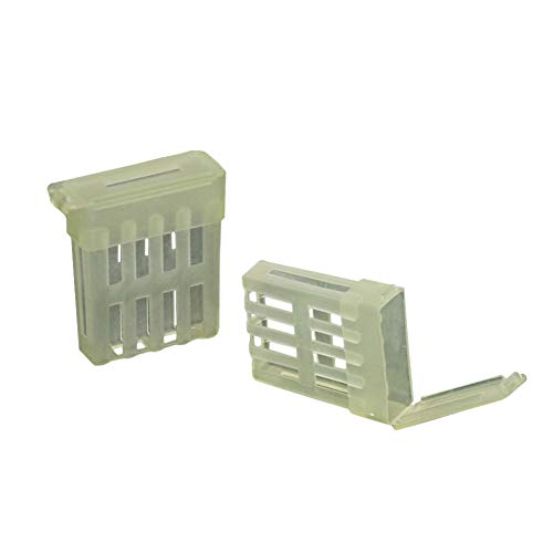Adhere To Fly Lot de 50 Cages à Abeilles en Plastique avec Outils Imkerei