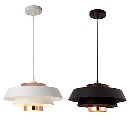 YANGQING Lámpara de techo nórdico simple posmoderna con personalidad creativa E27, cabeza de tornillo, metal forjado, hierro negro, blanco, negro