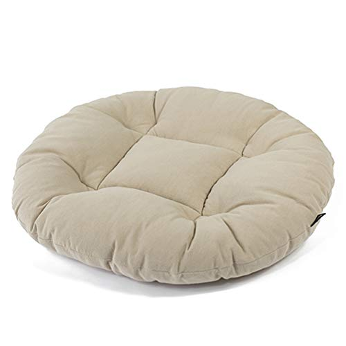 Lefran Round Tatami Seat Cushions,Cotton and Linen Soft Floor Bay Window Futon Cushion,Pet Mat Washable Not-Slip Chair Pad